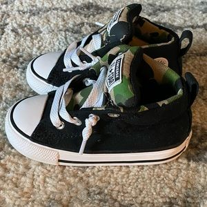 Converse high tops with camo- toddler size 7